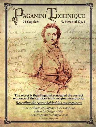 Paganini Technique Violin Book front